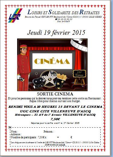 Sortie cinema fev 2015